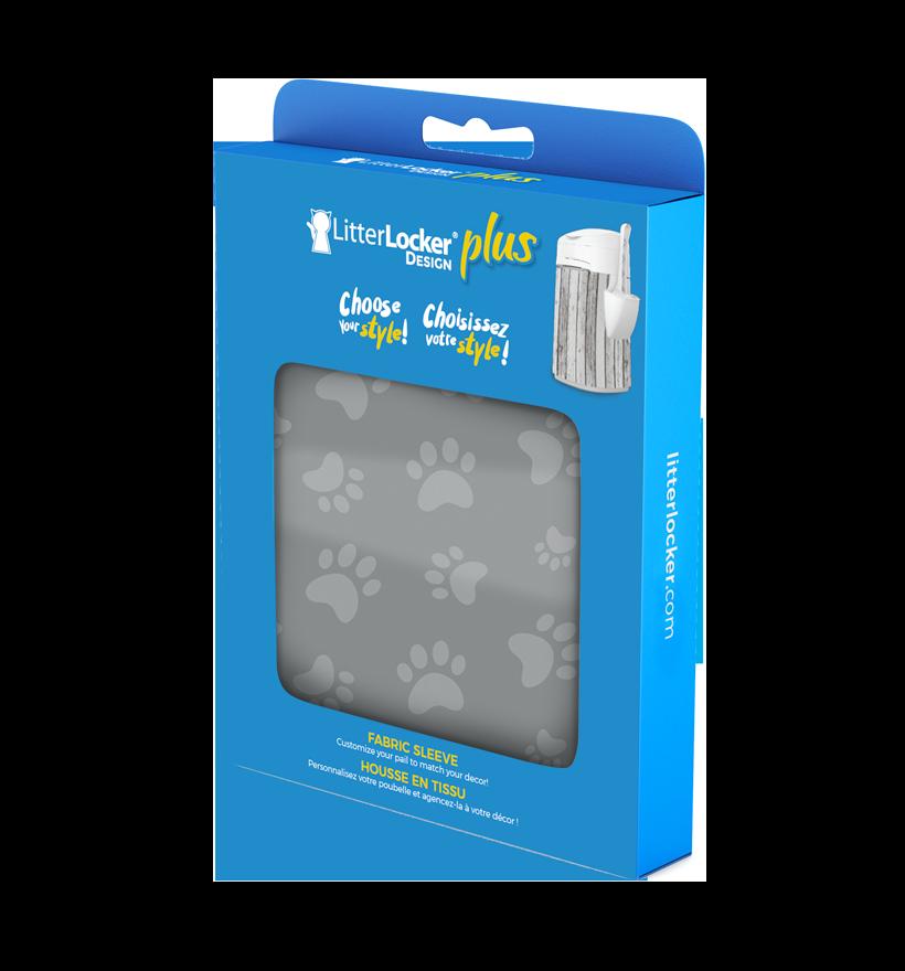 LitterLocker Design Plus Fabric Sleeve Cat Paws PACK