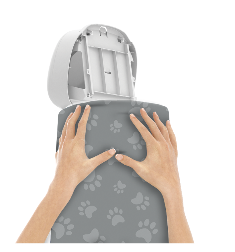LitterLocker Design Plus Fabric Sleeve Cat Paws Step 2