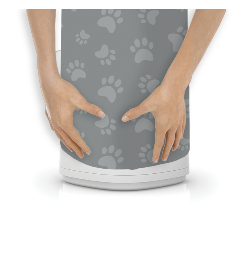 LitterLocker Design Plus Fabric Sleeve Cat Paws Step 3