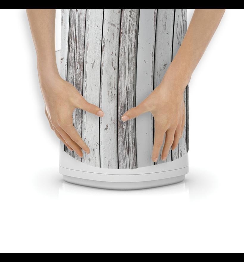 LitterLocker Design Plus Fabric Sleeve Wood Step 3
