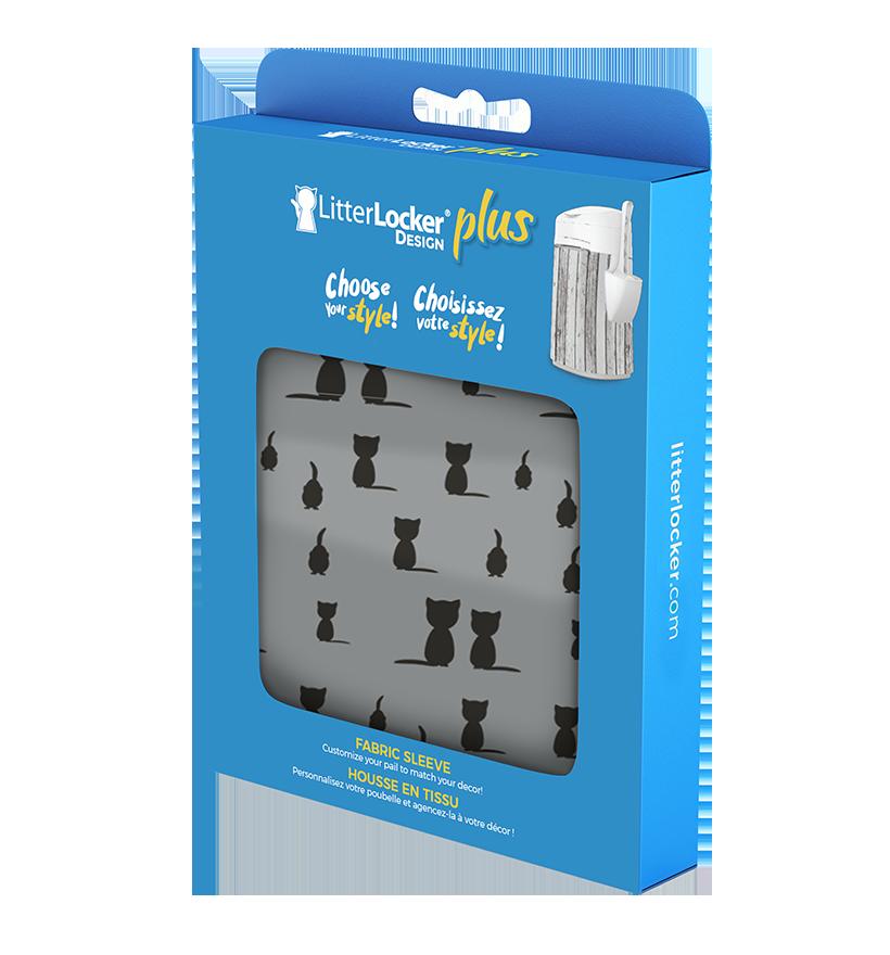 LitterLocker Design Plus Fabric Sleeve Black Cats PACK
