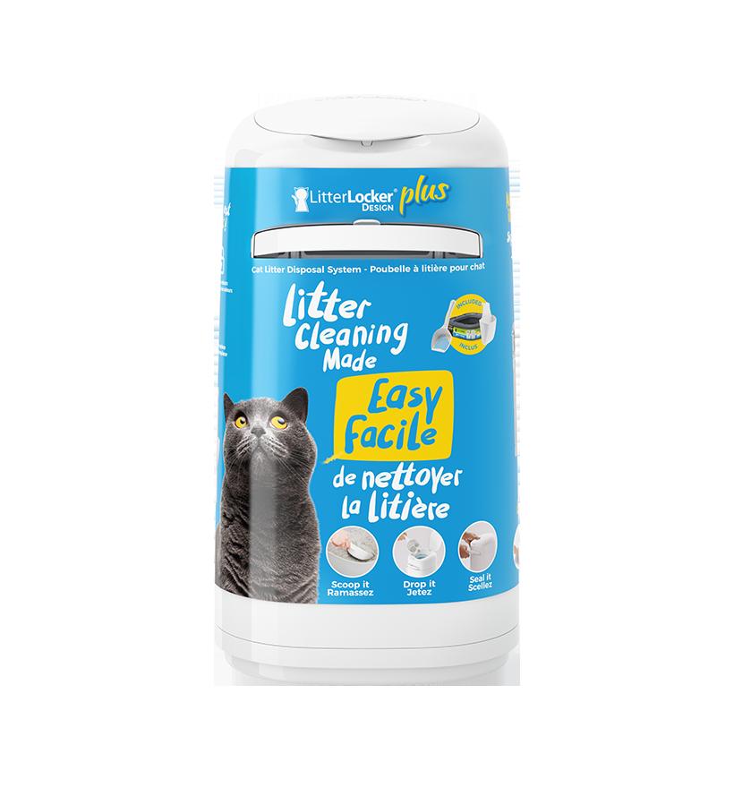 Poubelle à litière pour chat LitterLocker Design Plus pack